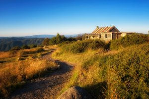 Craig's Hut  in the Victorian Alps, Australia