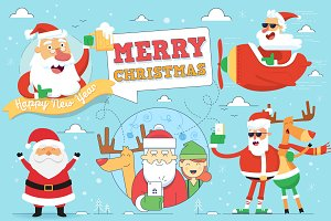 Christmas Greeting Card Design Set