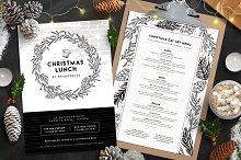christmas menu design photos graphics fonts themes templates