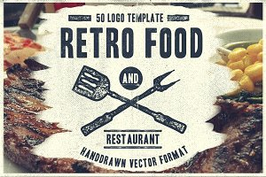 50 Retro Food Logo