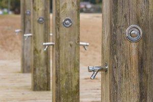 Public showers.