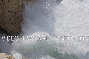 Rock and sea nature scene of Rosh Hanikra