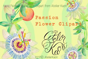 Passionflower Clipart