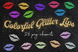 Sparkly Glitter Lips Clipart