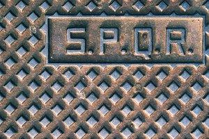 Manhole cover in Rome