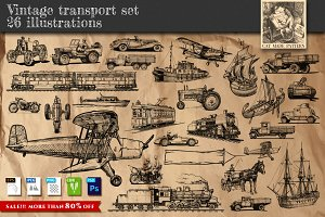 Vintage transport set