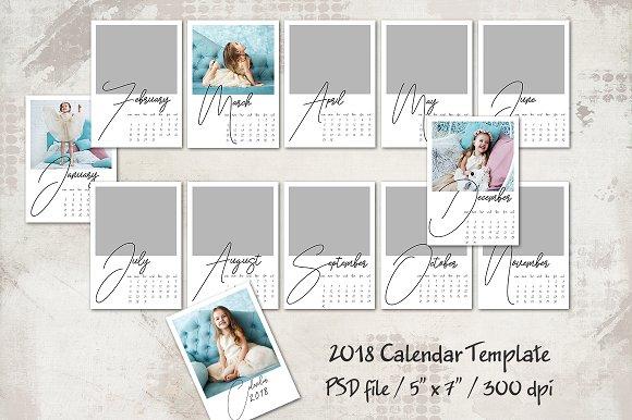 2018 Calendar Template 5x7 Personal