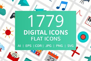 1779 Digital Flat Icons