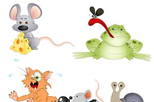 Cute Cartoon Animals Vectors