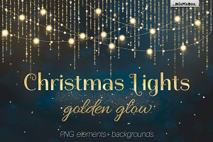 Christmas Lights Golden Glow