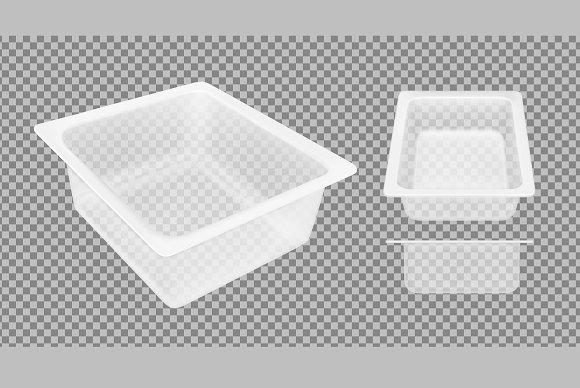 Transparent Empty Plastic Container