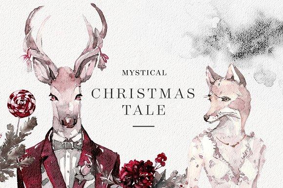 mystical christmas tale illustrations - Christmas Tale