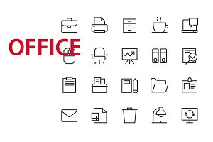 20 Office UI icons