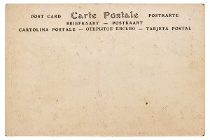 Blank antique european postcard
