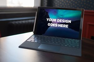 Microsoft Laptop Mock-up #26