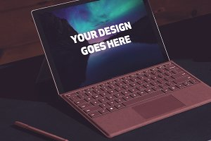 Microsoft Laptop Mock-up #24