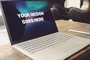 Microsoft Laptop Mock-up #23