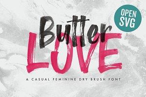 Butter Love - Opentype SVG Dry Brush