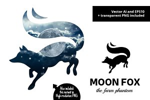 Moon Fox Logo Design