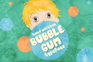 Bubble Gum - hand written font