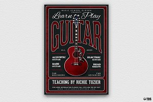 Guitar Lessons Flyer Template V3