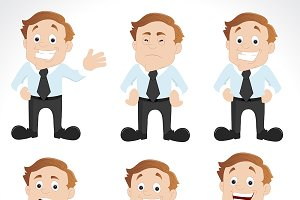Office Employee Characters Vectors