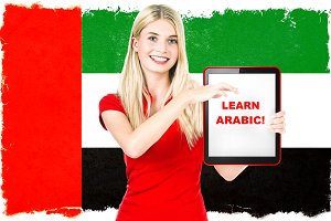 Arabic language learning concept
