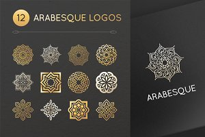 12 arabesque logos