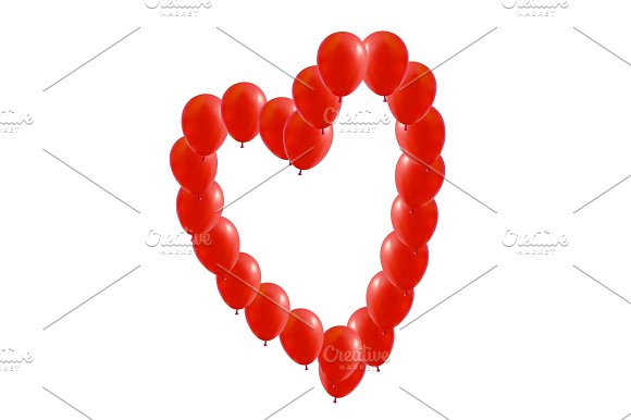 Red Balloons Heart