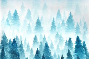 Christmas background. Landscape