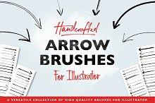 Handmade Arrow Illustrator Brushes