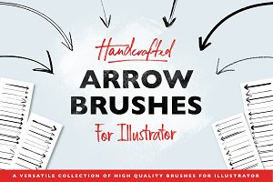 Handmade Arrow Illustrator Brushes