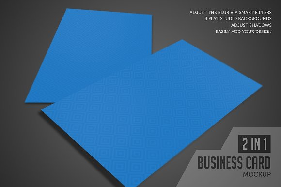 Business Card Mockup (Studio View)