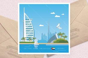 United Arab Emirates travel poster