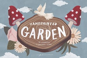 Hand Painted Garden Clipart