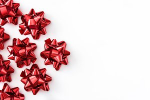 Red ribbons gift box