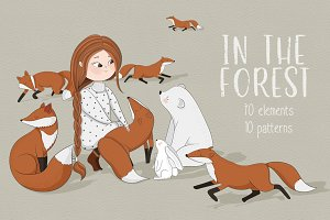 In the forest clipart