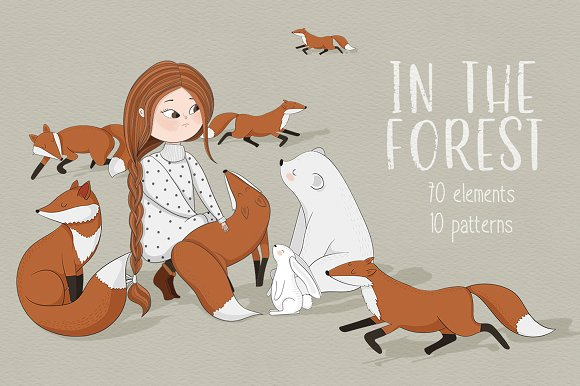 In the forest clipart-Graphicriver中文最全的素材分享平台