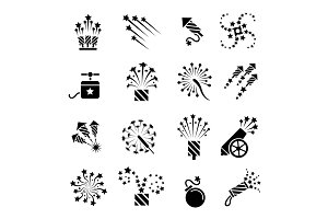 Pyrotechnic black icons