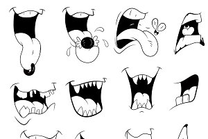 Cartoon Mouth Vector Designs