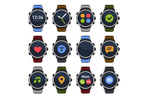 Smart Watch with Different Apps Set