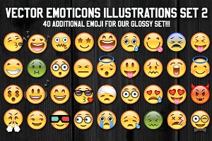 36 Vector Emoji Illustration Set 2