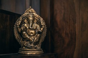 Brass Metal Buddha Ornament