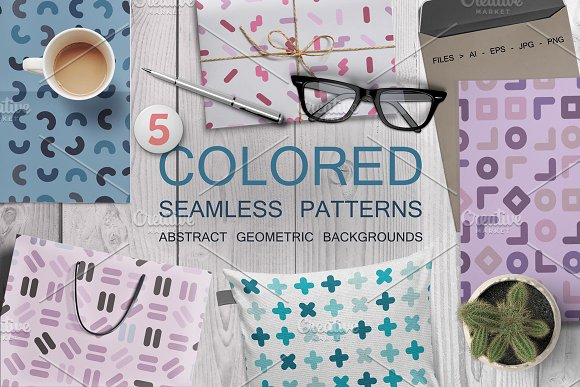 Color seamless patterns. Fa-Graphicriver中文最全的素材分享平台