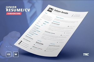 Junior Resume/Cv Template - V1