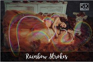 5K Rainbow Strokes Overlays