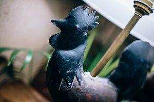 Metal Rooster Lamp