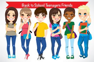 Back to School Teenagers Friends