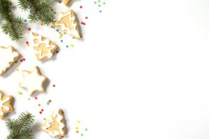 Christmas background gingerbread.