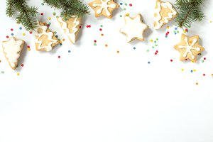 Christmas background gingerbread